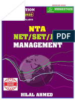 Ugc Net Management- 2020 by Hilal Ahmed