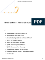 Thesis Defense - Detailed Guide to Ease Your Preparation