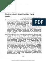 Bibliografia de Jose Eusebio Caro