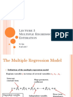 Lecture 3 Multiple Regression Model-Estimation