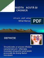 Sinuzita acuta si cronica