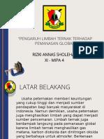 PENGARUH LIMBAH TERNAK TERHADAP PEMANASAN GLOBAL.pptx