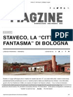 """Staveco, la """"città fantasma"""" di Bologna _ magzine"""