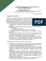 APOSTILA DE ECONOMIA BRASILEIRA - Aspectos Demográficos