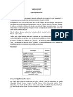 LA BOHÈME Resumen por Andrés Rodríguez