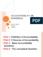 Accountability in Schools for Education students