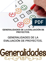 NUEVA CLASE GENERALIDADES EVALUACION DE PROYECTOS.