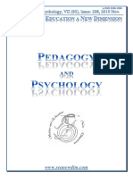 SCIENCE and EDUCATION a NEW DIMENSION PEDAGOGY and PSYCHOLOGY Issue 208