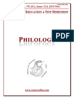 SCIENCE and EDUCATION a NEW DIMENSION PHILOLOGY Issue 210