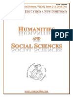 SCIENCE and EDUCATION a NEW DIMENSION HUMANITIES and SOCIAL SCIENCE Issue 213