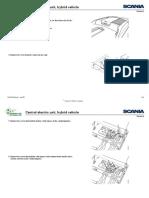 Scania K Workshop Manual - Central electric unit, hybrid vehicle