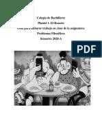 guia de trabajo para la asignatura Problemas filosóficos (gpo. 624)