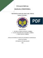 Contoh Jurnal Bahasa Indonesia dan Istilah Asing