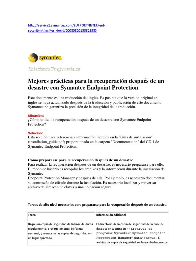 Recuperacion Despues de Un Desastre Con Symantec Endpoint Protection (3)