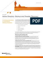 WorkshopPLUS - Active Directory Backup and Disaster Recovery