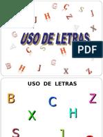 Usos de letras
