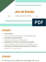 - Módulo Fundamental - Roteiro de Estudos - 20201E