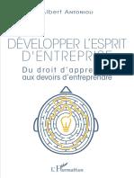 Antonioli, Albert - Développer l'esprit d'entreprise _ du droit d'apprendre aux devoirs d'entreprendre (2017, L'Harmattan)