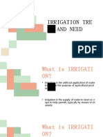 Irrigation Trend and Needs - Water Resources Engineering