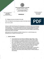 Final Memorandum, Order declaring statewide judicial emergency