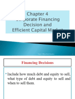CH 4 - Corporate Financing Decisions and Efficient Capital Market