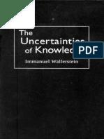 Wallerstein The Uncertainties of Knowledge