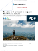 Un salmo en la epidemia_ la confianza triunfa sobre el miedo - Protestante digital