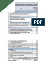 Check List Auditoria Interna Bodega y Adquiciones