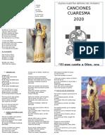 Cancionero Cuaresma 2020