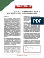 Impacto ambiental de la salmonicultura en Chile - análisis de políticas públicas