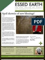 April 2009 Blessed Earth Newsletter