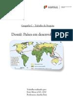 Relatório Países em desenvolvimento