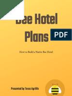Bee Hotel Plans