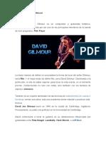 Biografía de David Gilmour