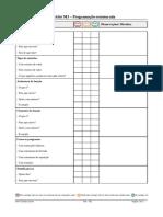 Checklist - M3
