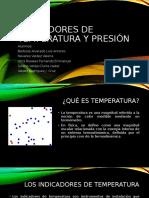Indicadores de temperatura y presión