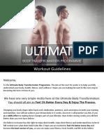 UBT Workout Guidelines