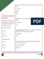 GCSE Maths Higher Number Revision Mat