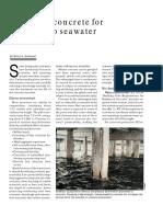 Designing Concrete for Exposure to Seawater