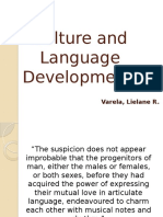 Culture and Language Development