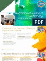 CAPACITACION DE MANEJO DE MAQUINA PLANA, FILETEADORA Y COLLARÍN