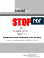 Stop the sexual Assault against Humanitarian and devolopment aid workers