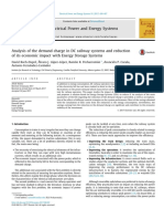 Analysis of the demand charge in DC railway systems and reduction of its economic impact with Energy Storage Systems