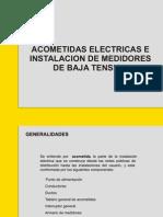 acometidas electricas e instalaciones de medidores en baja tension