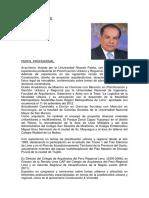 CV ARQ. GERARDO REGALADO AL 2020