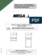 Manual de uso y Mantenimiento Mega KCK-30