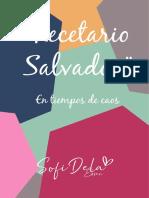 Recetario Salvador