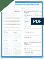 caracteristicas de los polinomios