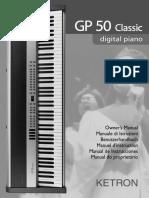 GP 50 Manuale Istruzioni