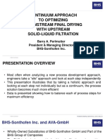 BHS Solid-Liquid Filtration and Final Drying Optimization